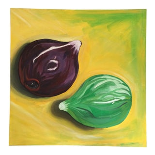 """Figs"" Acrylic on Canvas Painting"