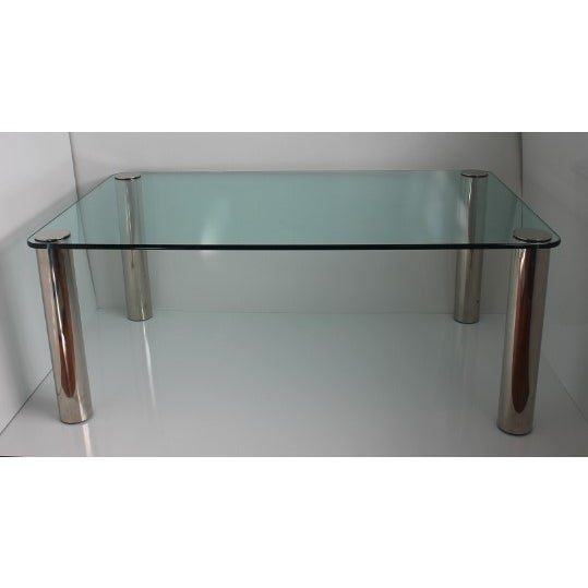 Pace Dining Table With Chrome Legs and Glass Top - Image 2 of 10