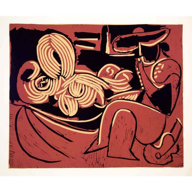Vintage Picasso Lithograph, 1962 - Image 2 of 2