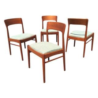 Mid-Century Modern Teak Dining Chairs - Set of 4