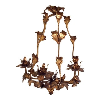 Decorative Gilt Wall Sconce