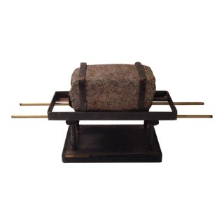 Carl Rapoport Stone & Metal Sculpture
