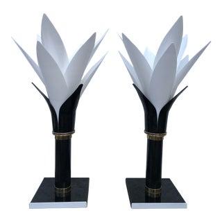 Rougier Floriform Lamps - A Pair