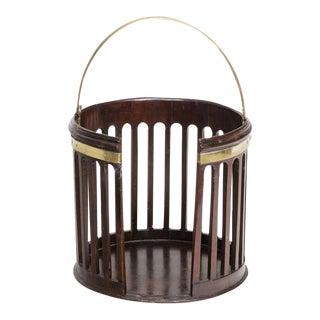 Fine Georgian Brass Bound Plate Bucket
