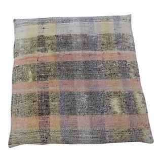 Vintage Turkish Ethnic Kilim Floor Pillow & Dog Bed 36'' x 36