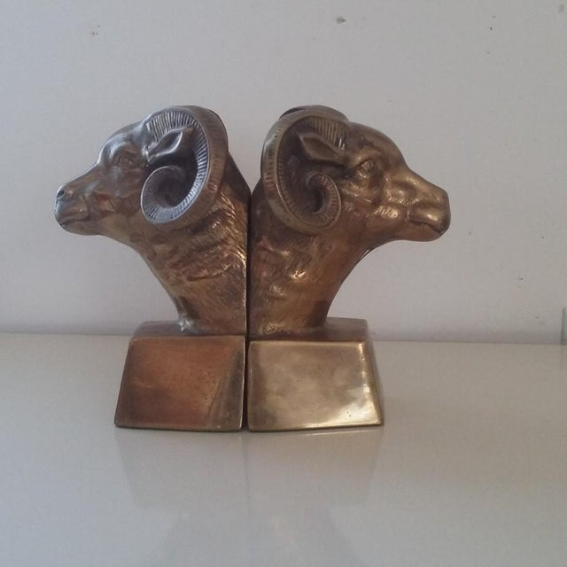 Brass Ram's Head Bookends - A Pair - Image 6 of 7