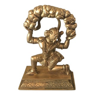 Vintage Hanuman Monkey God Brass Figure