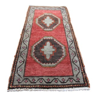 "Vintage Turkish Oushak Tribal Rug- 1'6"" x 3'2"""