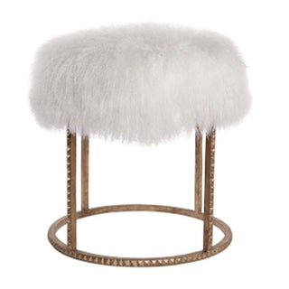 Stud Base Mongolian Lamb Stool