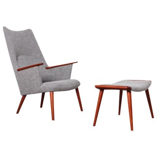 Hans Wegner AP-27 Lounge Chair and Ottoman