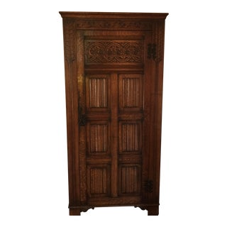 Antique Detailed Wood Armoire