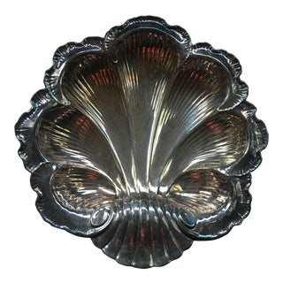 Vintage Mid Century Gorham Silver Plate Clam Shell Serving Dish/Platter