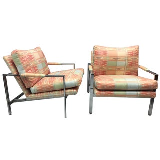 Milo Baughman Thayer Coggin Chrome Chairs - A Pair