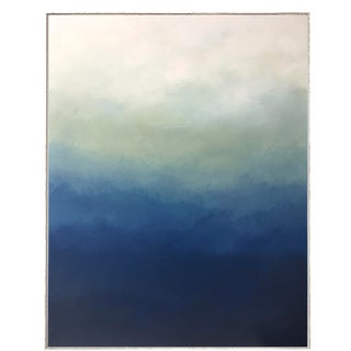 "Abstract Blue Ombre Painting - 30"" x 40"""