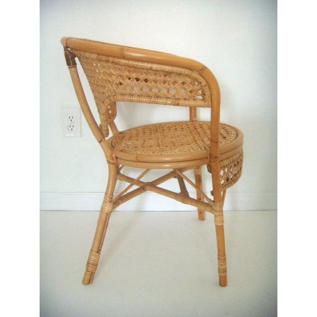 Rattan And Bamboo Club Style Chair Chairish