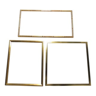 Vintage Gold Art Frames - Set of 3