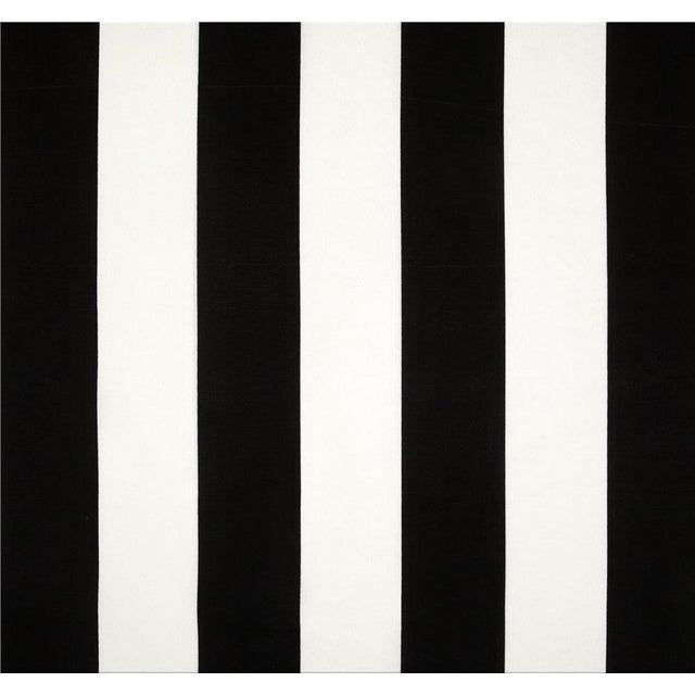 Black White Stripe Pink Cording Pillows - Set of 4 - Image 2 of 2