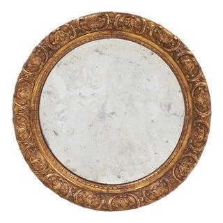 Round Gold Leaf Restauration Period Mirror
