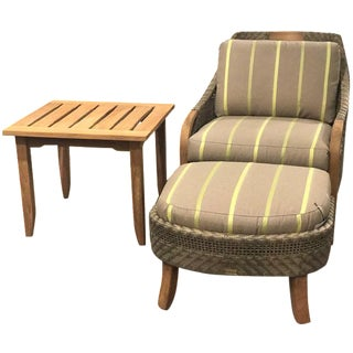 Lane Venture Edgewood Lounge Chair, Ottoman & End Table Set