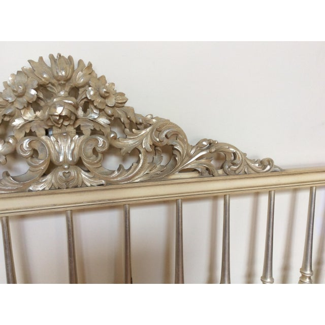 Silvered Accented Carving King Size Headboard - Image 7 of 10