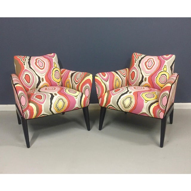 Italian Mid Century Lounge Chairs in the Style of Ico Parisi - a Pair - Image 9 of 9