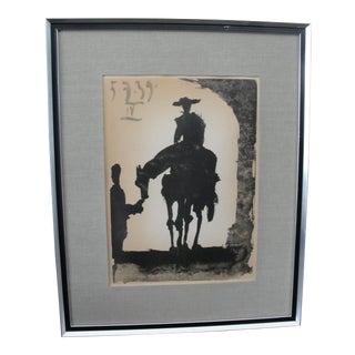 "Vintage Pablo Picasso Turner Mid-Century ""Rider IV"" Print"