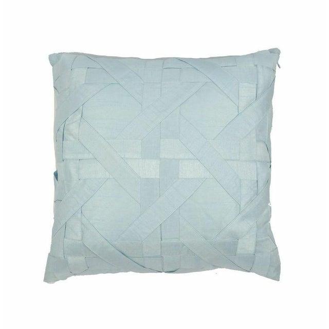 Image of Powder Blue Lattice Pillows - Pair