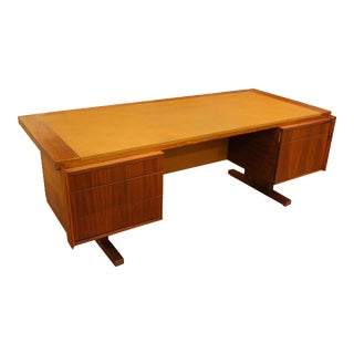 1960s Martin Borenstein Walnut Executive Desk