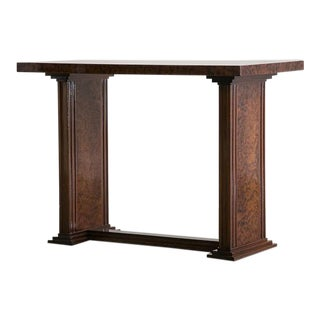 Art Deco French Bird's Eye Maple Console Side Table circa 1930