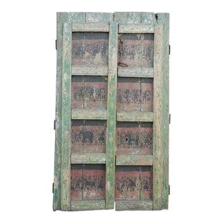 Vintage Orissa Painted Double Door