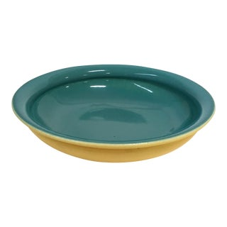 Large Turquoise Cowan Pottery Bowl