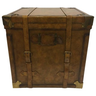Maitland-Smith Leather Trunk