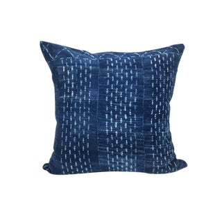 Vintage African Indigo Mudcloth PIllow | Eleanor 22""