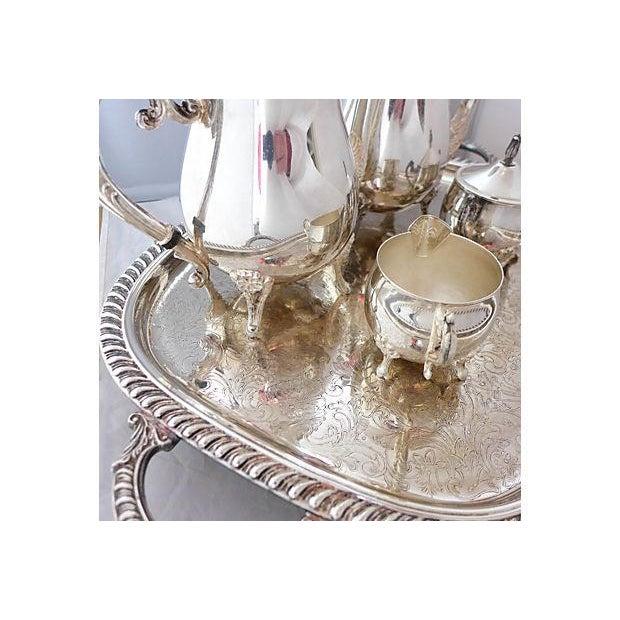 Vintage Five-Piece Silver Plate Tea & Coffee Set - Image 3 of 7