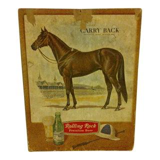 """Vintage """"Rolling Rock Premium Beer"""" Advertising Sign"""