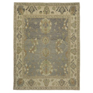 Modern Turkish Oushak Rug with Transitional Style - 9'3 x 12'