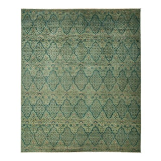 """Eclectic Hand Knotted Area Rug - 9' 1"""" X 10' 9"""""""