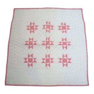 19thc. Eight Point Star Quilt