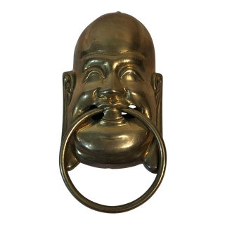 Vintage Solid Brass Buddha Door Knocker