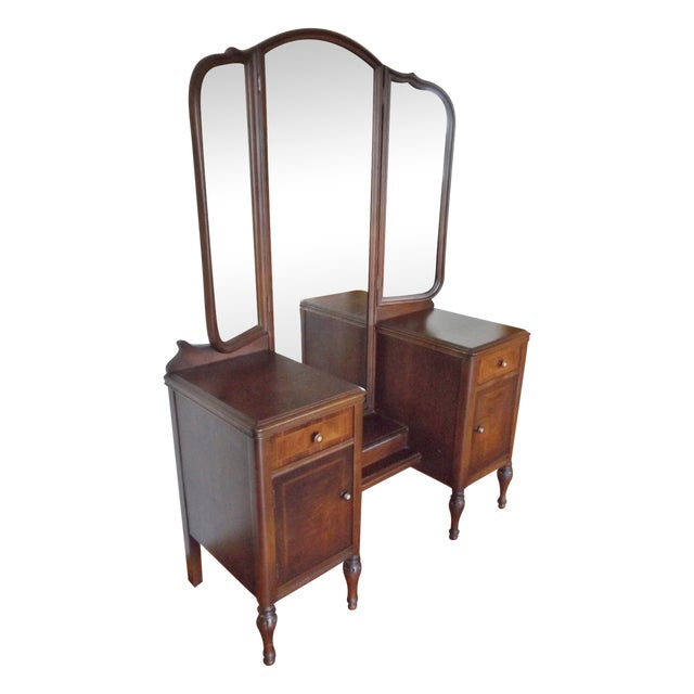 Image of Maple Vanity with 3-Way Mirror
