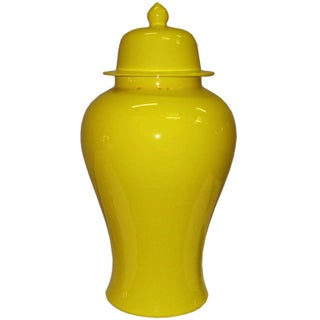 Yellow Lidded Temple Jar