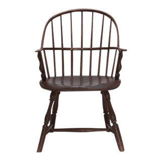 18th Century Windsor Chair With Brass