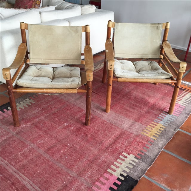 "Image of Arne Norell ""Sirocco"" Safari Chairs - A Pair"