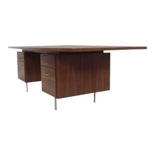 Large Walnut Exécutive Desk by Jens Risom