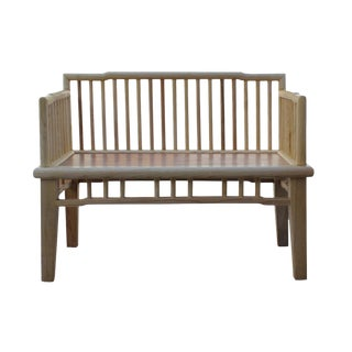 Zen Unfinished Wood Double Seat Bench
