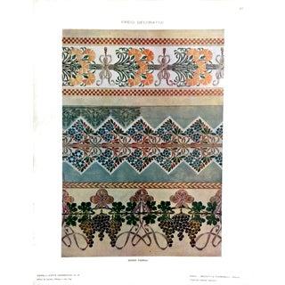 1910 Guido Fiorini Art Nouveau Lithograph