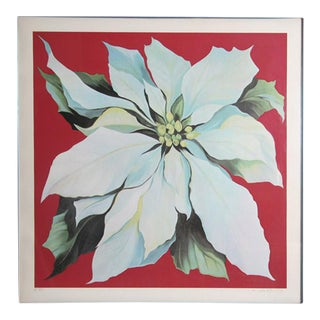 "1978 ""White Poinsettia"" Print by Lowell Blair Nesbitt"