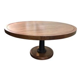 Walnut & Cast Iron Dining Table