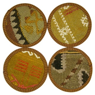 Turkish Kilim Coasters, Adapazarı - Set of Four