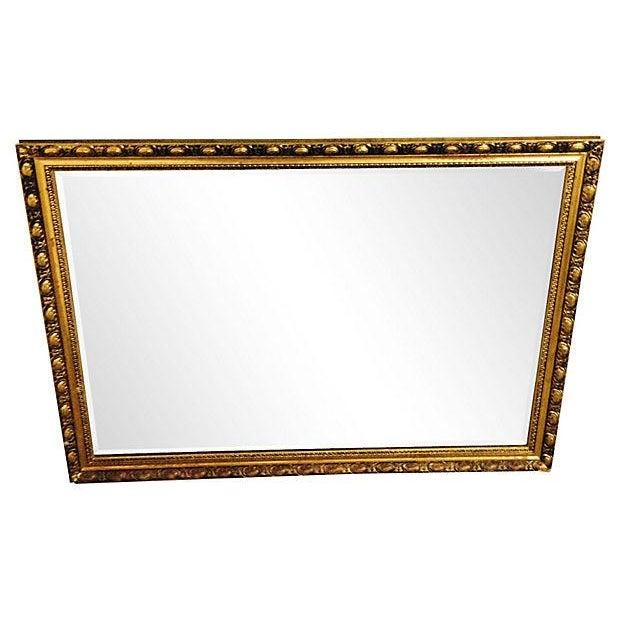 Image of Vintage Gilt Rectangular Beveled Mirror